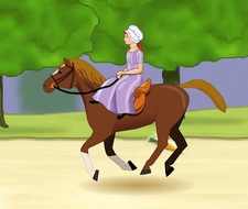 بازی آنلاین دختر شجاع اسب سوار penny's courageous ride