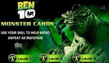 بازی کارت : بن تن و هیولاها Ben 10 Monster Cards