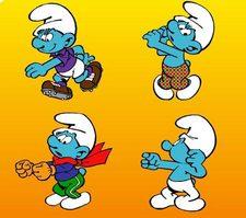 بازی اسمورف های ورزشکار the smurfs sports pairs