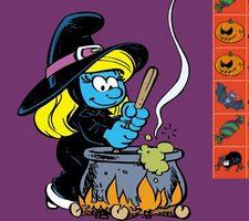 بازی پازل هالووین اسمورفی ها smurfette's halloween