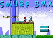 بازی مرحله ای اسمورفی ها smurf bmx