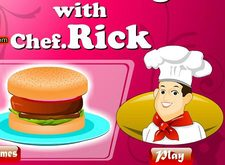 بازی آموزش آشپزی با سرآشپز ریک make a perfect burger with chef rick
