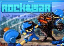 بازی پسرونه نبرد و صخره ها rock & war