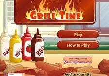 بازی آشپزی و مدیریتی زمان غذا grill time