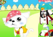 بازی حیوانات : طراحی لباس گربه غمگین