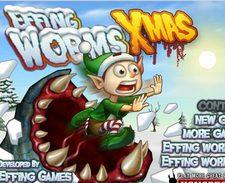 دانلود بازی آنلاین کرم های خون خوارeffing worms XMAs