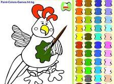 دانلود بازی رنگ آمیزی مرغ آنلاین برای کودکان