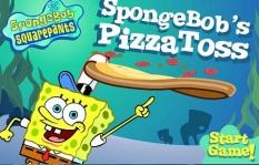 دانلود بازی آنلاین باب اسفنجی پیتزا رسان SpongeBob Square Pants Pizza Toss