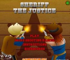 دانلود بازی آنلاین تیراندازی و هفت تیرکشی کلانتر عدالت sheriff the justice