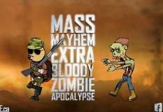 دانلود بازی اکشن مس میهم بر علیه زمبی ها mass mayhem extra bloody zombie apocalypse