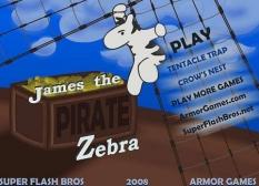 دانلود بازی آنلاین جیمز گورخر دزد دریایی james the pirate zebra