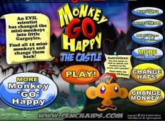دانلود بازی آنلاین کودکان با موس میمون های غمگین monkey go happy the castle