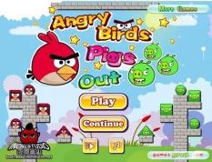 بازی سقوط AngryBirds