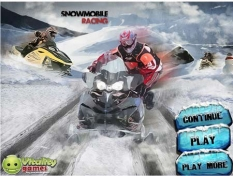 بازی سرعتی اسنوموبیل- اسکی روی برف