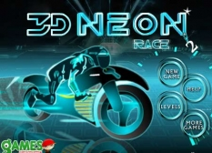 بازی موتورسواری نئون