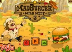 بازی پرتابی همبرگر Mad Burger Wild West