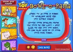 دانلود بازی فلش آنلاین بولینگ داستان اسباب بازی toy story