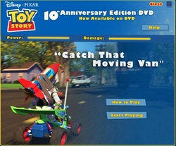 دانلود بازی فلش آنلاین داستان اسباب بازی در اتوبان-toy story