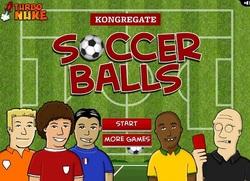 بازی فلش آنلاین فوتبال ضربه کاشته به داور-Soccer Ball