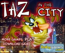 دانلود بازی فلش آنلاین تازمانیادر شهر taz-mania