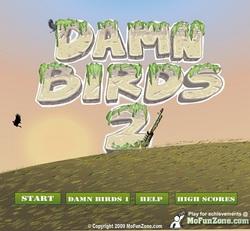 دانلود بازی فلش اینترنتی رایگان حمله پرندگان 2 damn birds